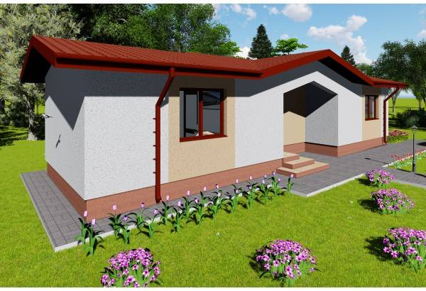 Proiect casa pe structura metalica 080-035