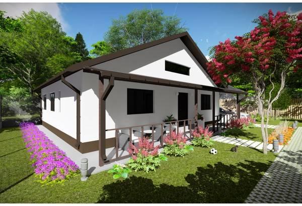 Proiect casa pe structura metalica 130-036