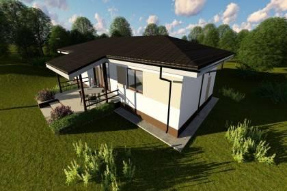 Proiect casa pe structura metalica 124-037