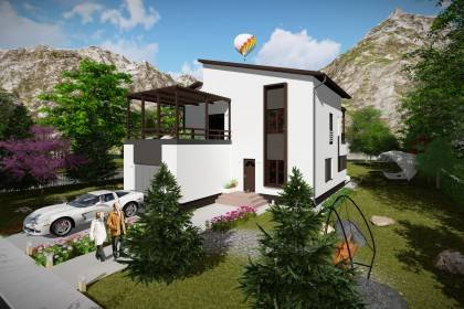 Proiect casa pe structura metalica 342-038