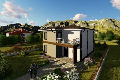 Proiect casa pe structura metalica 211-034