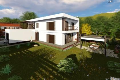 Proiect casa pe structura metalica 310-039