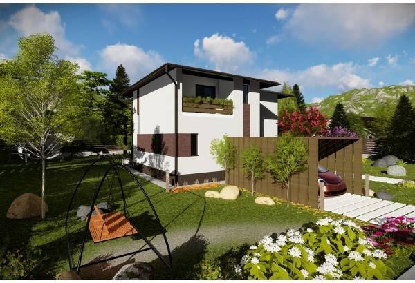 Proiect casa pe structura metalica 196-040