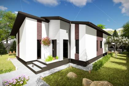 Proiect casa pe structura metalica 122-042