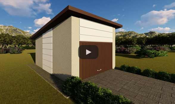 constructie garaj metalic GR01