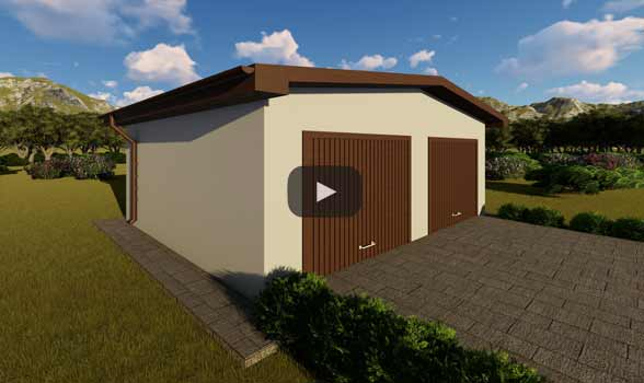 constructie garaj metalic GR04