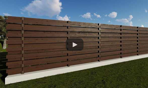 constructie gard din beton si lemn ga02