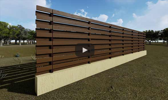 constructie gard din beton si lemn ga03