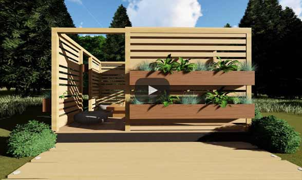 foisor gradina din lemn f03