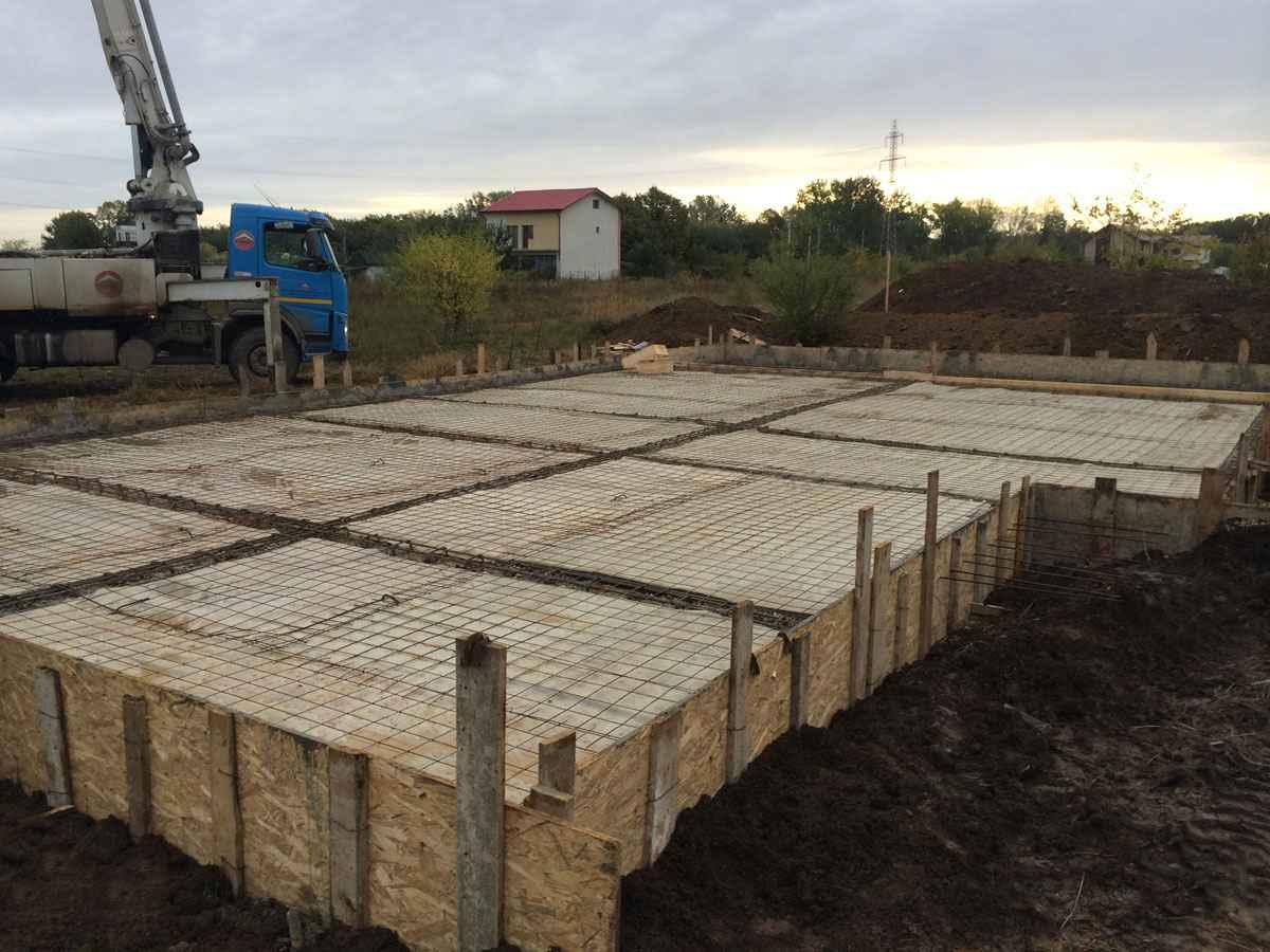 Fundatie casa pe structura metalica
