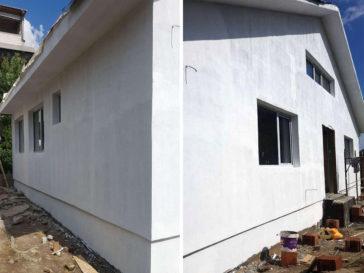 Aplicare strat amorsa fatada-proiect casa craiova