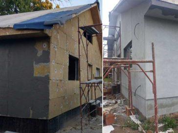 aplicare masa de spaclu proiect casa metalica craiova