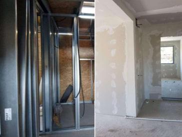 placari pereti interiori proiect casa metalica craiova