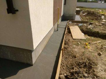 constructie trotuare perimetrale proiect casa saftica