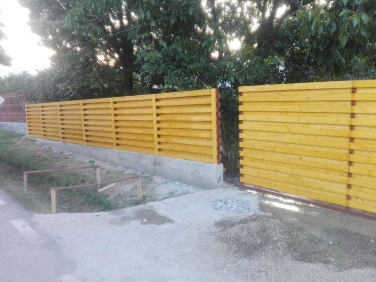 constructie gard beton si lemn model ga03