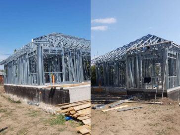 montaj proiect casa pe structura metalica galati