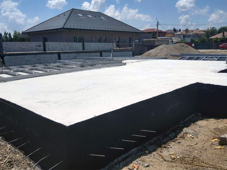 hidroizolatie fundatie proiect casa metalica
