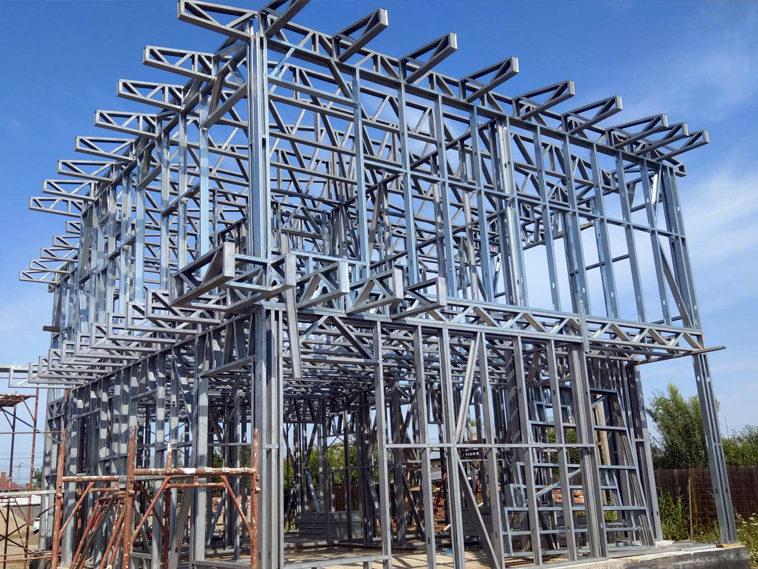 proiect casa metalica montaj etaj