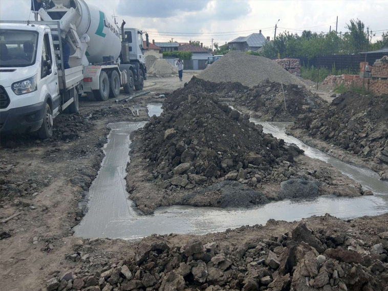 turnare beton mort fundatie casa metalica