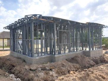 montaj structura metalica proiect casa 72 mp