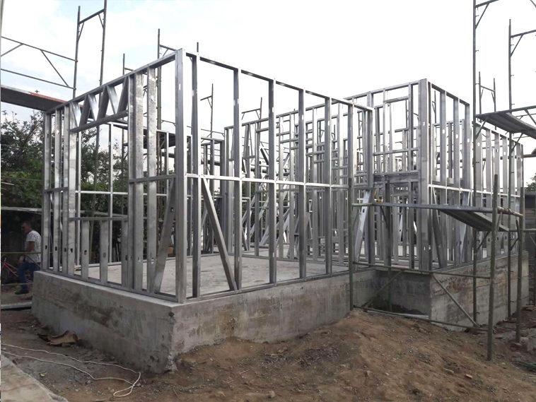 proiect de casa parter montaj structura metalica 130mp