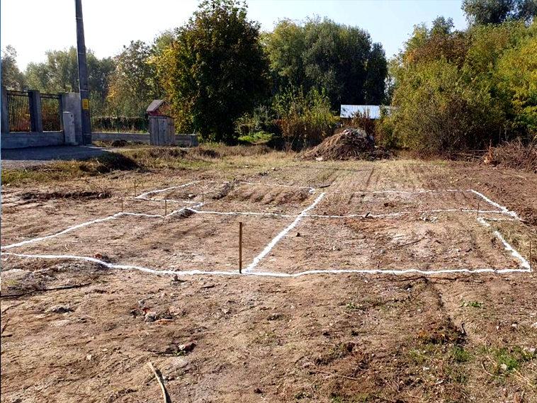 proiect de casa 155mp trasarea fundatiei