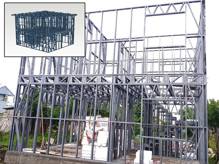 montaj structura metalica pentru proiect casa 120mp