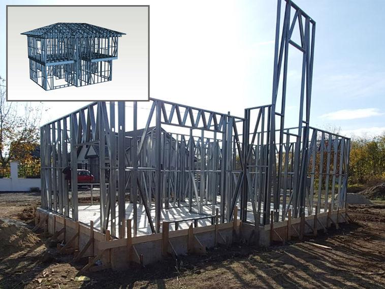 proiect casa 155mp montaj structura metalica parter