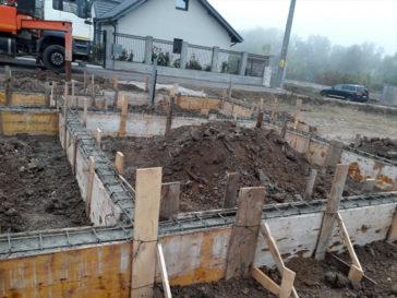 turnare grinzi fundatie model de casa pe structura metalica 155mp