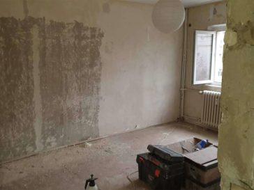 renovare apartament baneasa decopertare pereti tavane