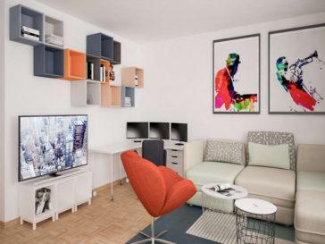 design interior apartament 80mp in zurich elvetia