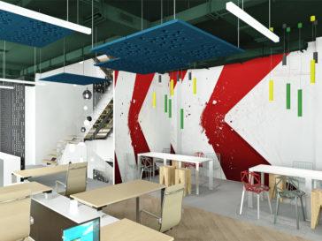 proiect amenajare design interior showroom firma 500mp