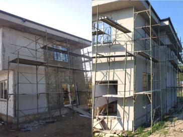 aplicarea masei de spaclu pentru proiect de casa 155 mp