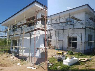 constructie casa 155 mp aplicare strat amorsa pe fatade