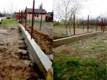 constructie gard ga06 turnarea soclului din beton armat