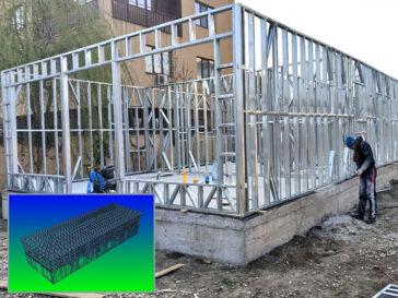 montaj structura metalica parter proiect de hala