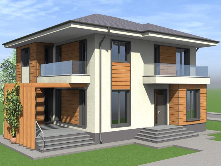proiect de casa cu etaj 293 mp realizat in judetul ilfov
