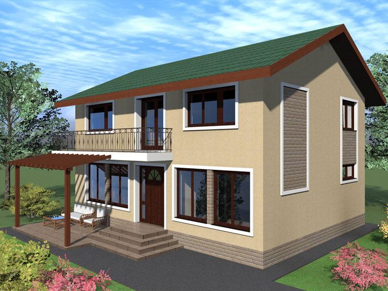 proiectare model de casa parter cu etaj 204 mp langa bucuresti