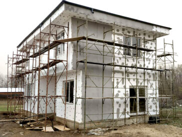 termosistem polistiren expandat proiect casa 155 mp