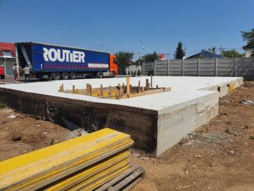 Constructie hala metalica 240 mp turnare placa fundatie