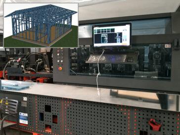 Debitare si premontaj casa structura metalica parter 53 mp in fabrica