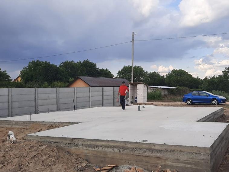 Finalizarea fundatiei si transport structura metalica casa 120 mp in Braila