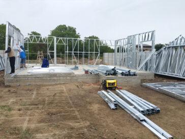 Proiect casa in Braila 120 mp montaj structura pereti