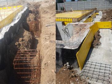 Sapatura mecanizata plantare cuzineti fundatie proiect hala 240 mp
