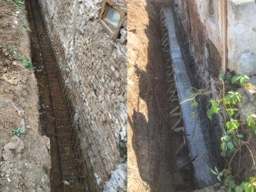 Subzidire fundatie demisol cu grinda de armare si captuseala peretilor hala 240 mp