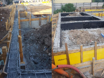 Turnare decofrare hidroizolatie grinzi fundatie proiect hala 240 mp