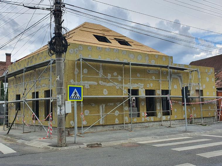 Constructie casa metalica 191 mp finalizare termoizolatie fatade