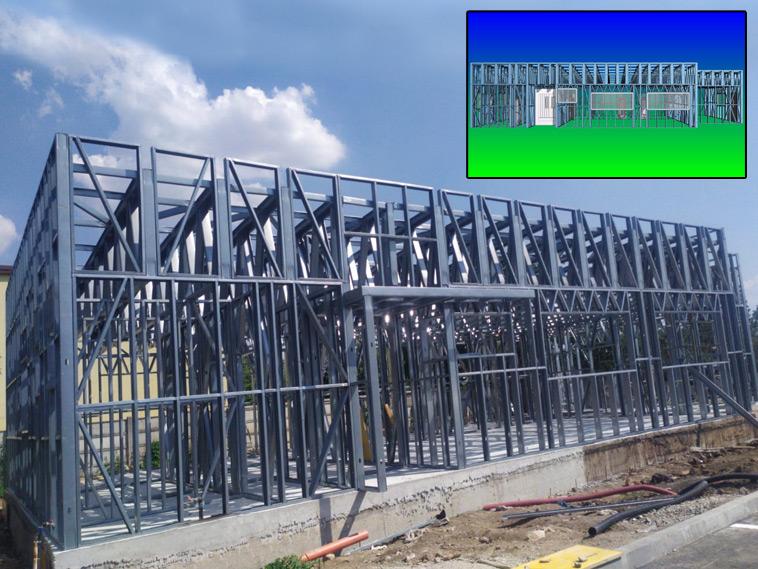 Constructie hala de 240 mp montaj structura metalica