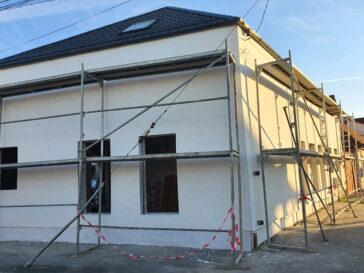 aplicare tencuiala decorativa casa metalica 191 mp sibiu