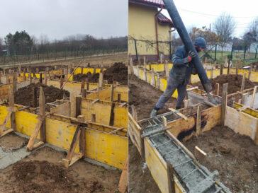 Casa metalica Snagov 165 mp cofrare armare si turnare grinzi fundatie